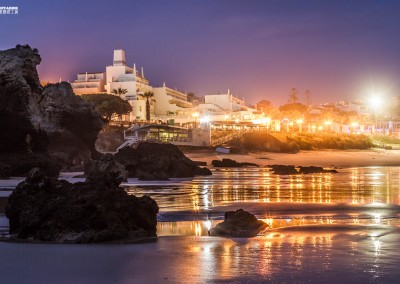 algarve portugal albufeira oura night beach town