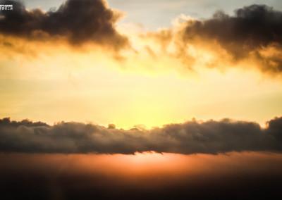 Sonnenuntergang über Bielefeld Deutschland Flug Landschaften