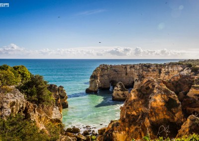 Algarve Portugal Marinha beach cliffs
