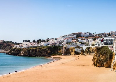albufeira algarve portugal city town beach europe atlantic