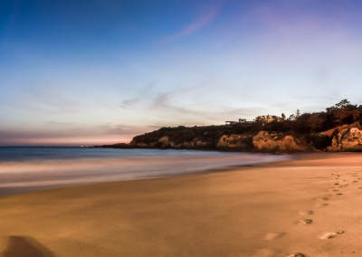 sunset praia oura albufeira algarve portugal